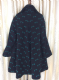Stunning 1940's Black and Jade Woollen Jaquard design Swing Coat  Label: Hershelle Model *SOLD* es